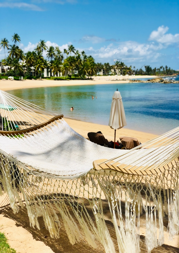 Hammock swaying next to the lagoon. Ask for snorkel gear, walk into the clear waters and swim towards the beautiful sea life among the corals.