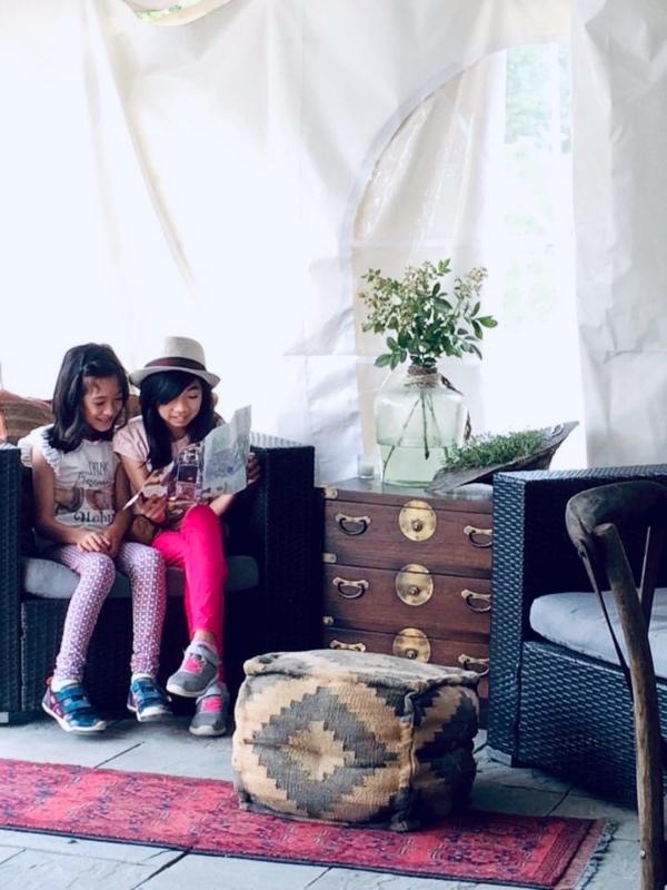 Girls Reading at Firelight Camp