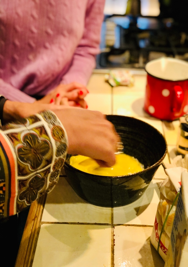 making crepes in Paris