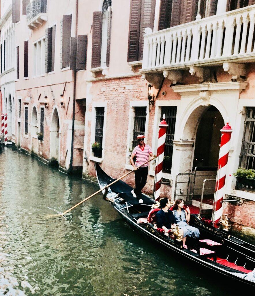 gondolier ride in Venice, Italy